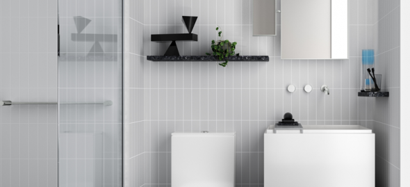 White Dawn Bathroom Render